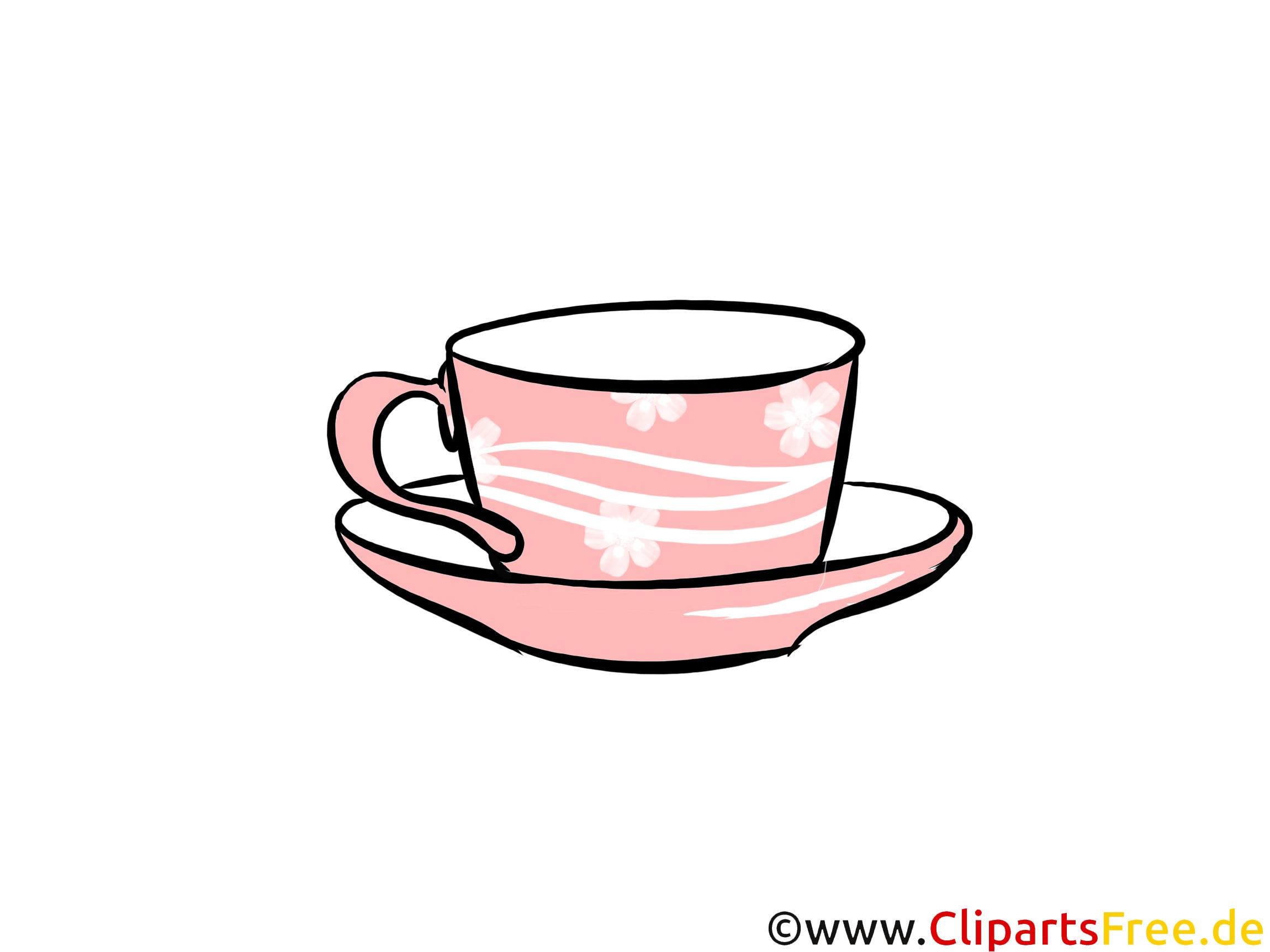Tasse mit Unterteller Illustration, Clipart, Bild