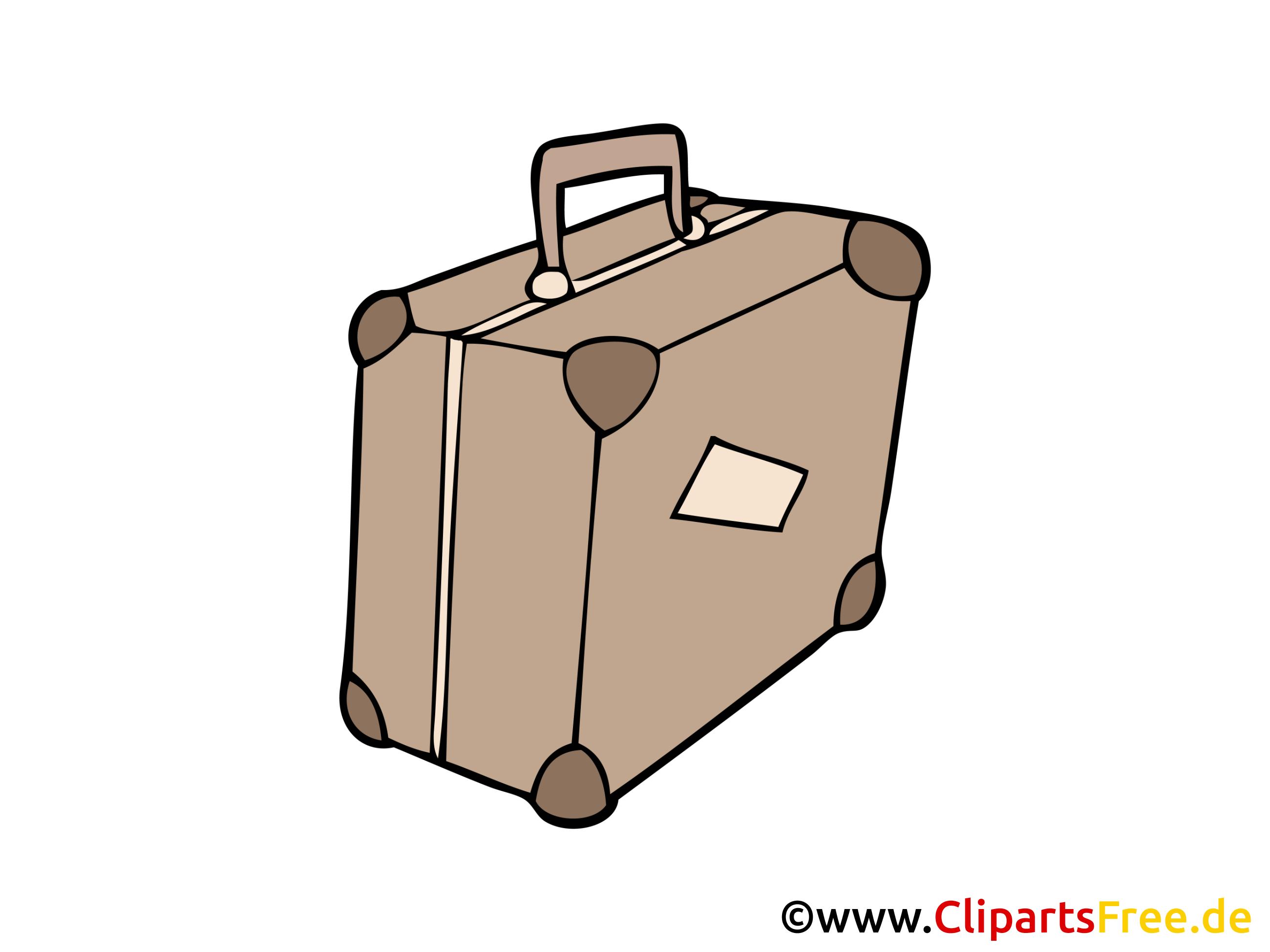 Reisekoffer Bild, Clipart, Illustration, Grafik, Zeichnung kostenlos