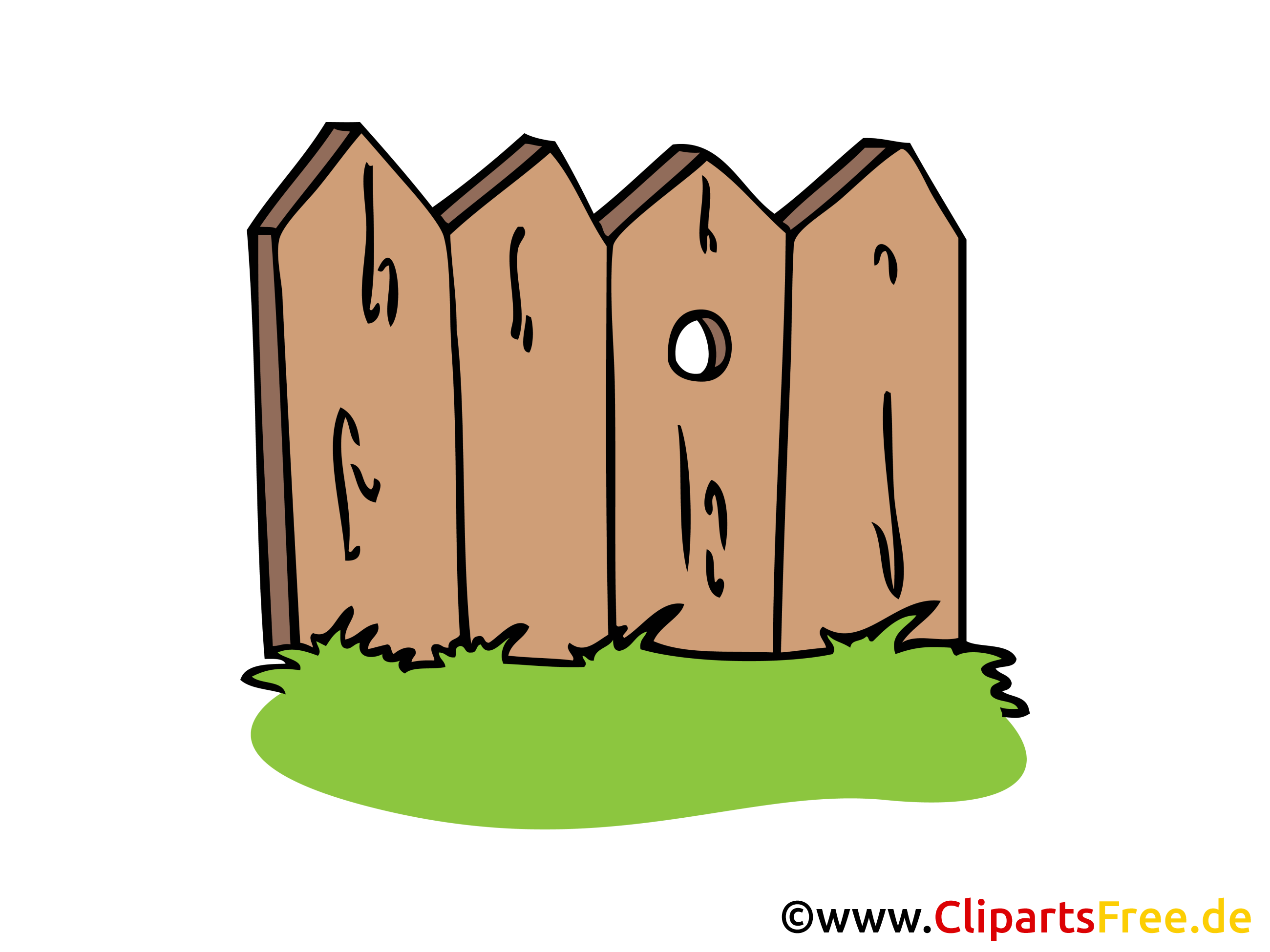 Zaun Aus Holz Bild Clipart Illustration Grafik Gratis