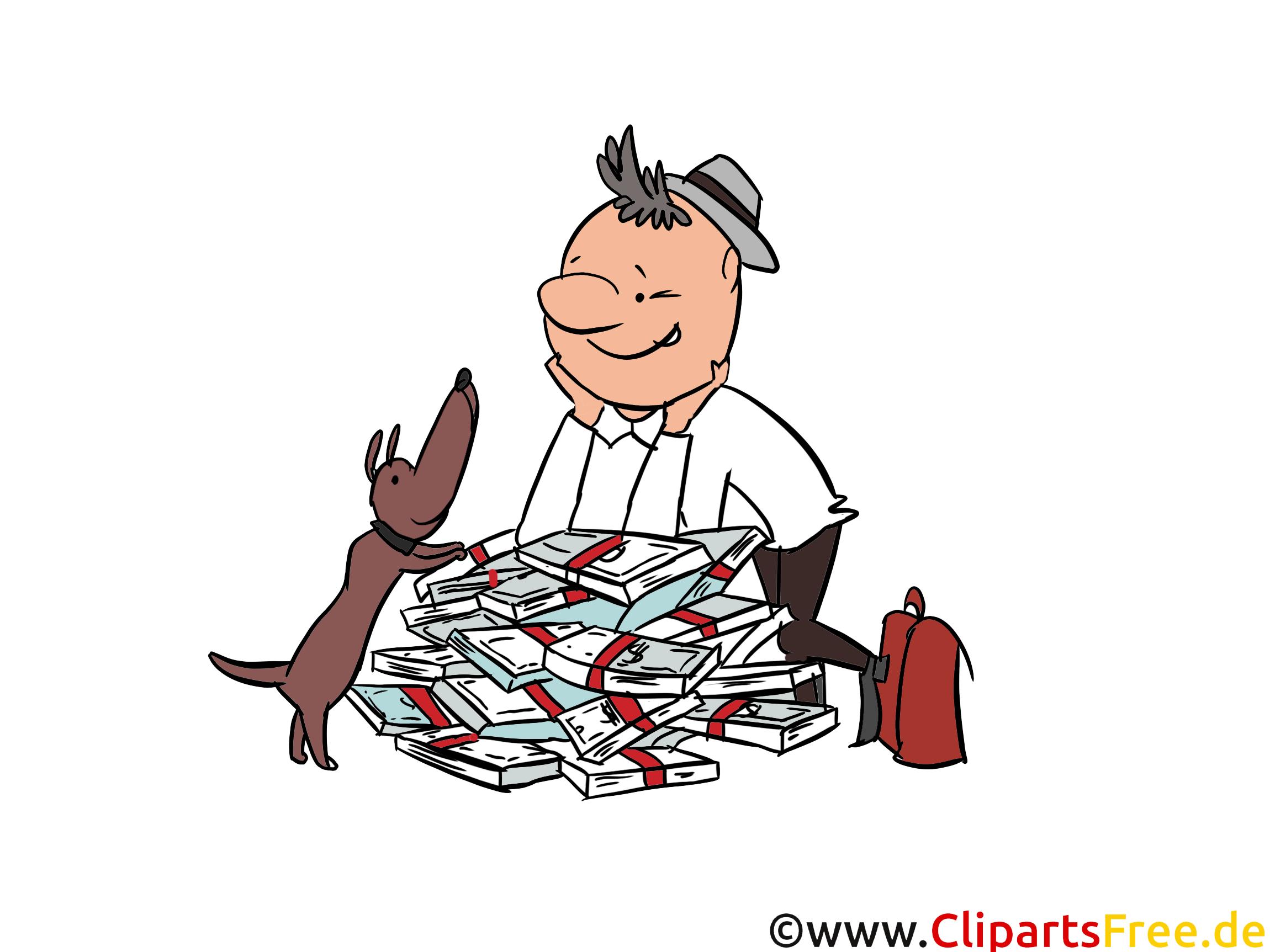 Beamter Finanzamt Clip Art, Bild, Cartoon, Comic, Illustration, Grafik kostenlos
