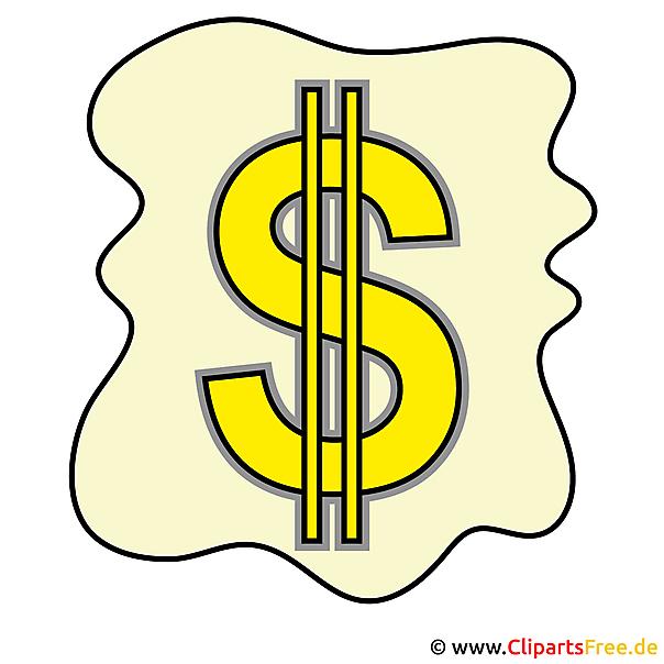 Dollarteken clipart