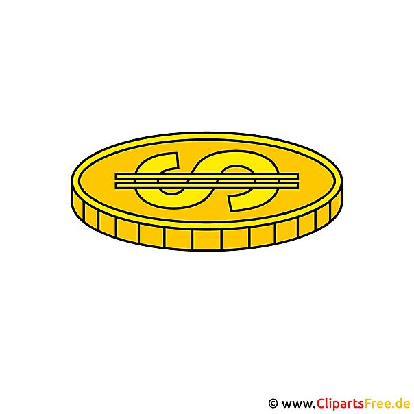 Gouden munt clipart gratis