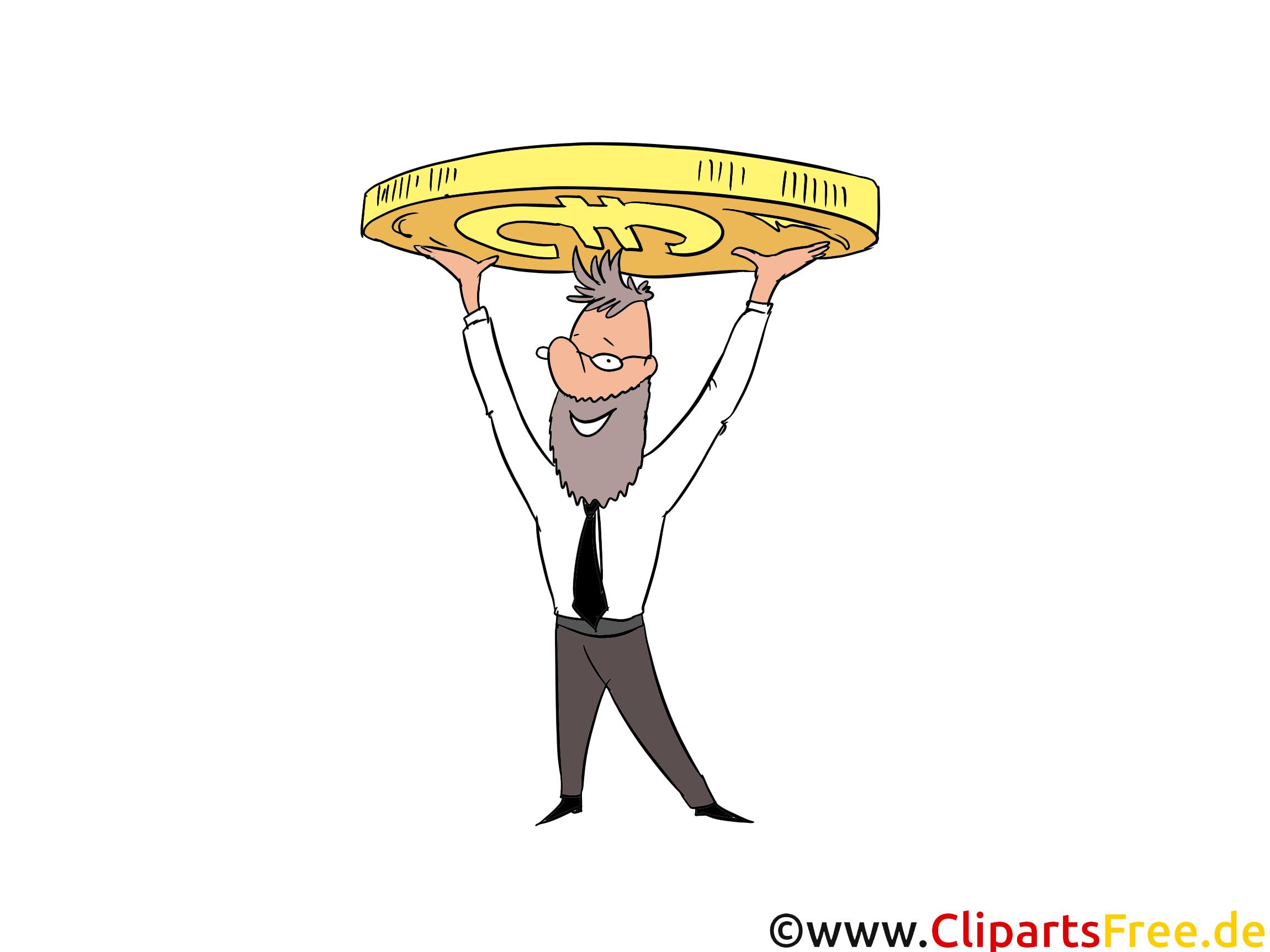 Münze Clipart, Bild, Cartoon, Comic, Illustration, Grafik kostenlos