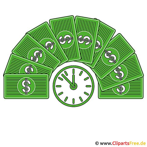 Tijd is geldfoto's voor presentaties