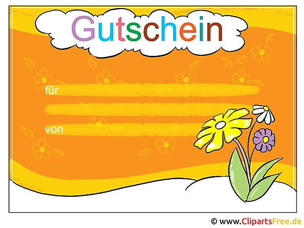 Ziemlich Gutschein Clipart Vorlage Bilder - Entry Level Resume ...