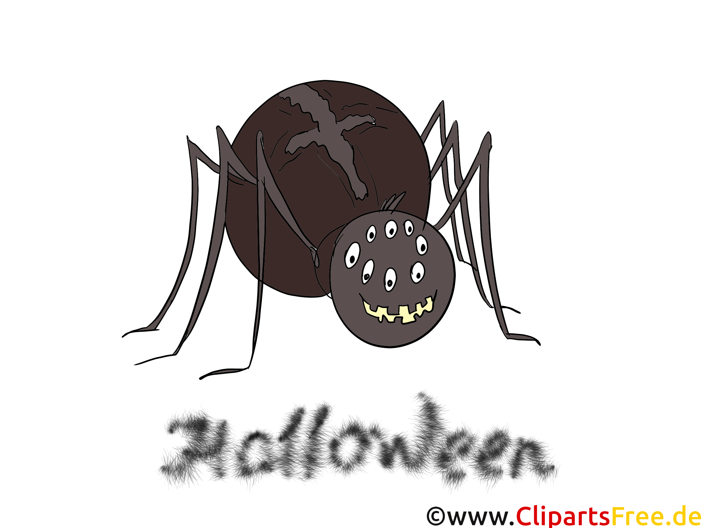 Clipart Spider - illustraties, afbeeldingen, clipart, strips, tekenfilms voor Halloween