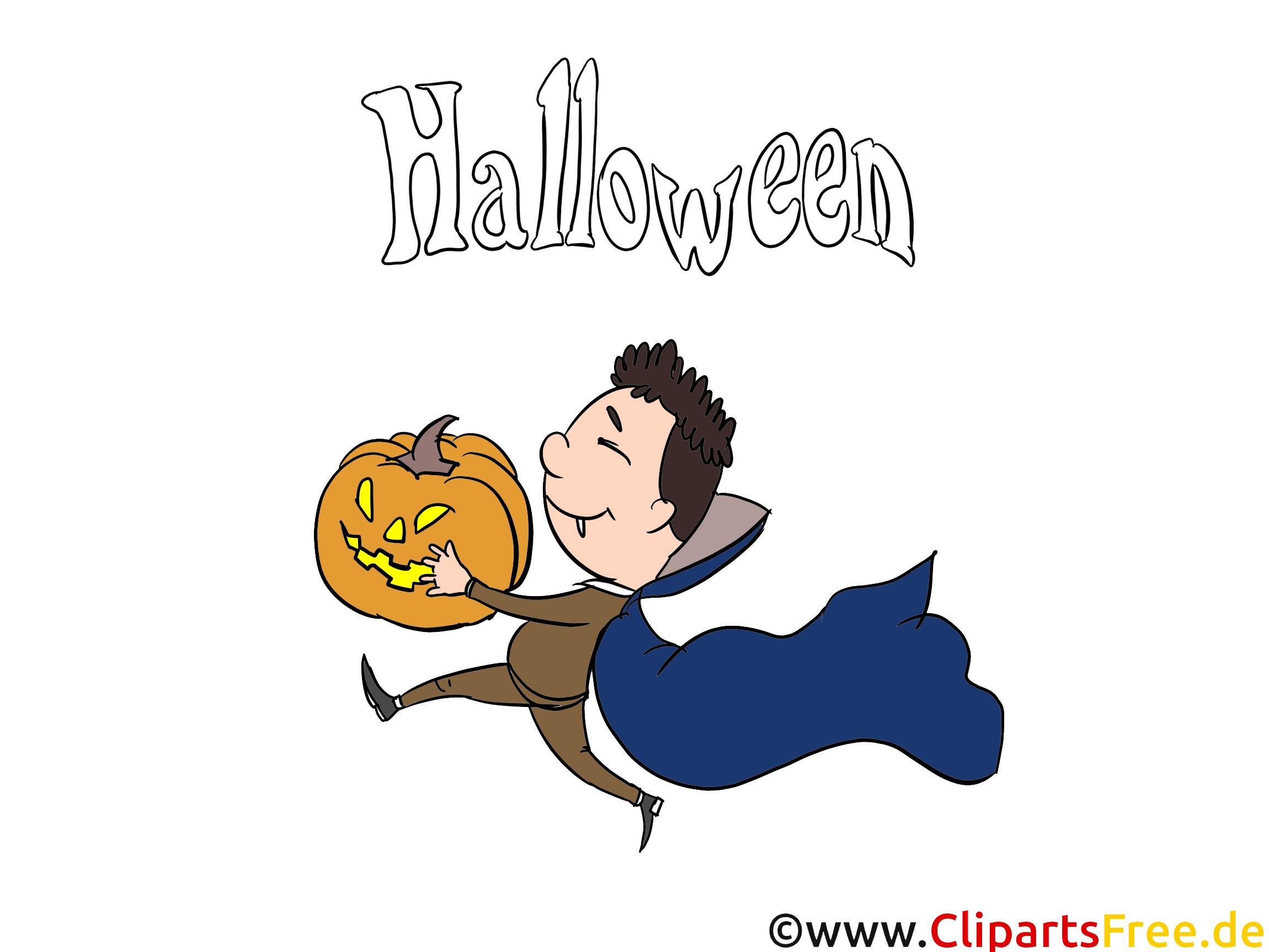 Clipart Vampir zum Herunterladen, Drucken und Basteln