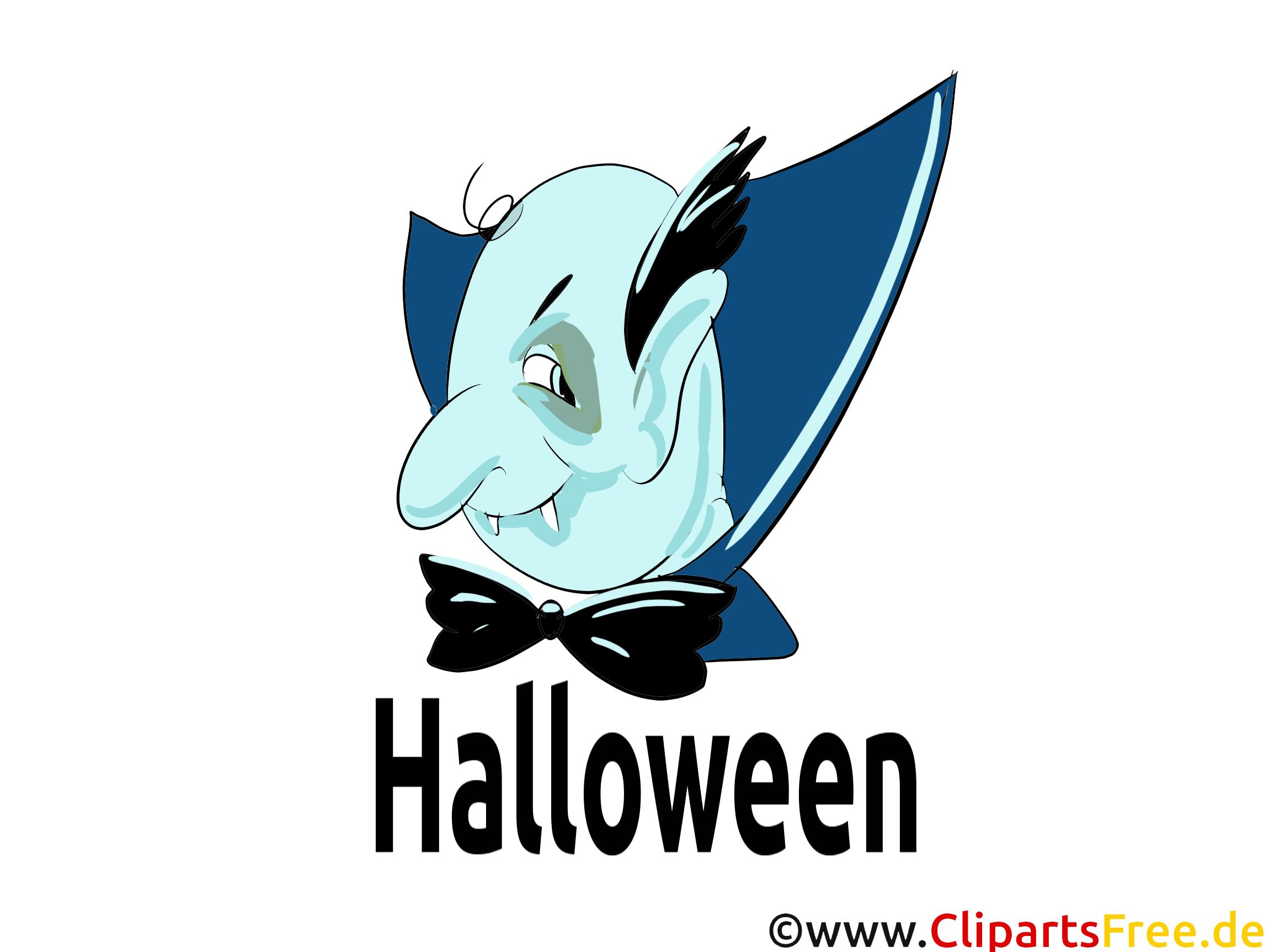 Drakula Clipart, Bild, Grusskarte, Vorlage für Einladungen zu Halloween