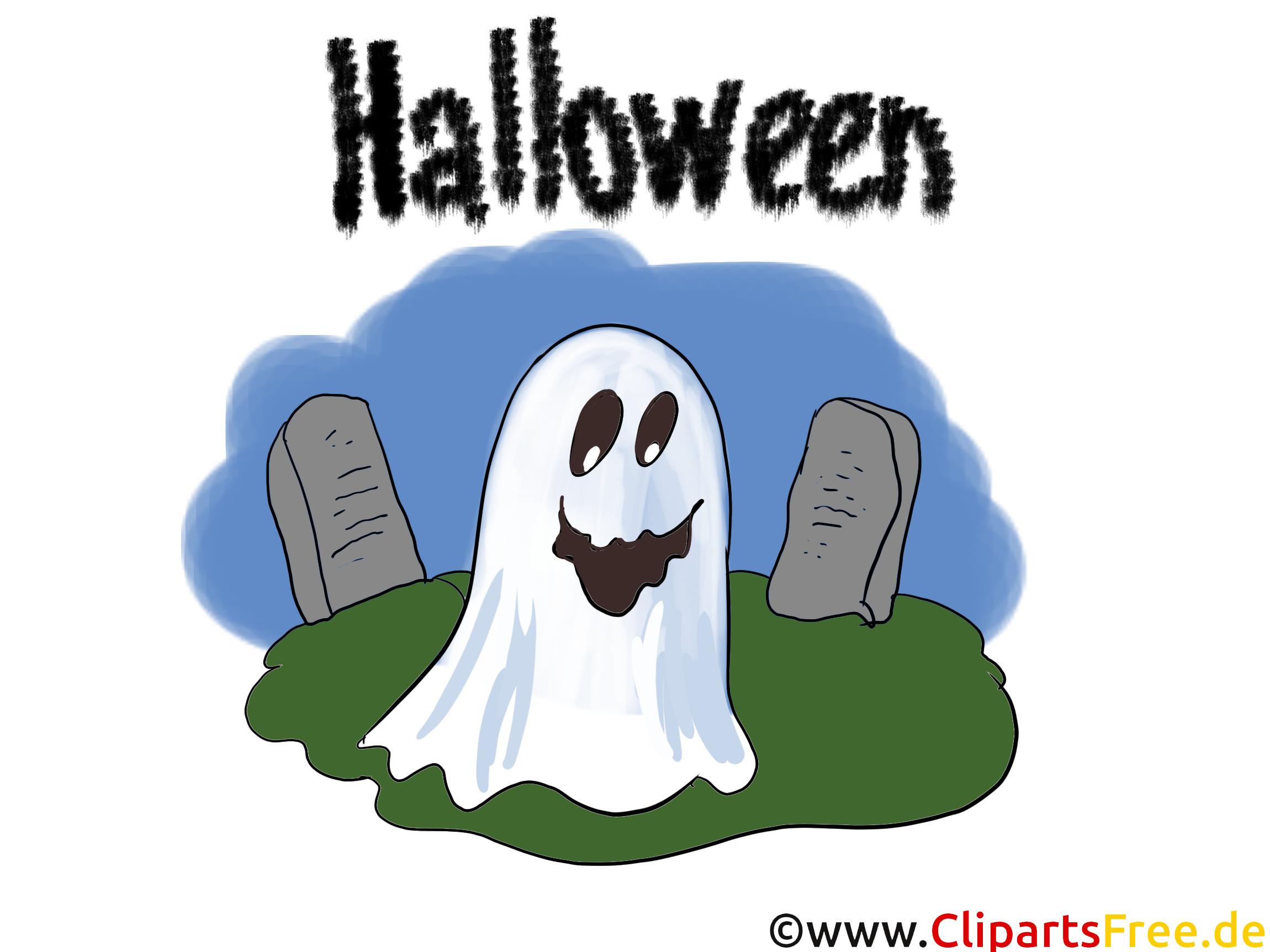 Gespenst Clipart, Bild, Illustration, Grafik, Karte zu Halloween