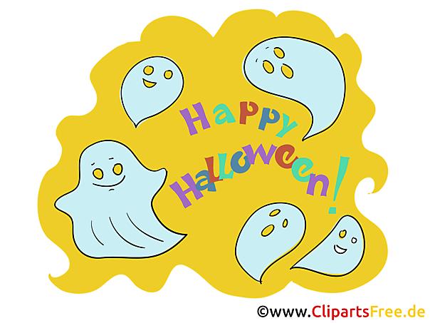 Gespenster Cliparts zu Halloween