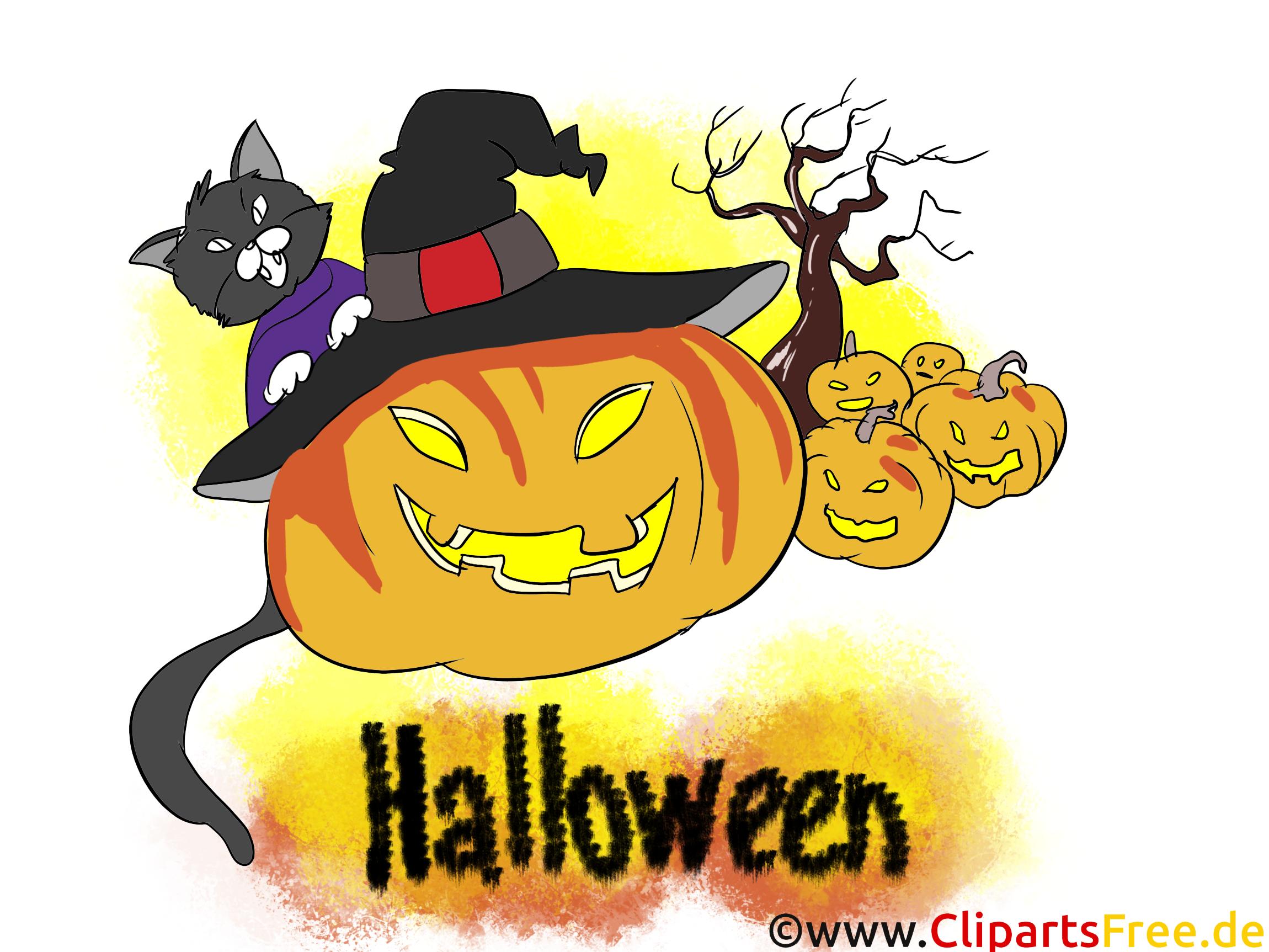 Halloween Einladungskarten selbst gestalten - Clipart, Bild, Vorlage, Illustration