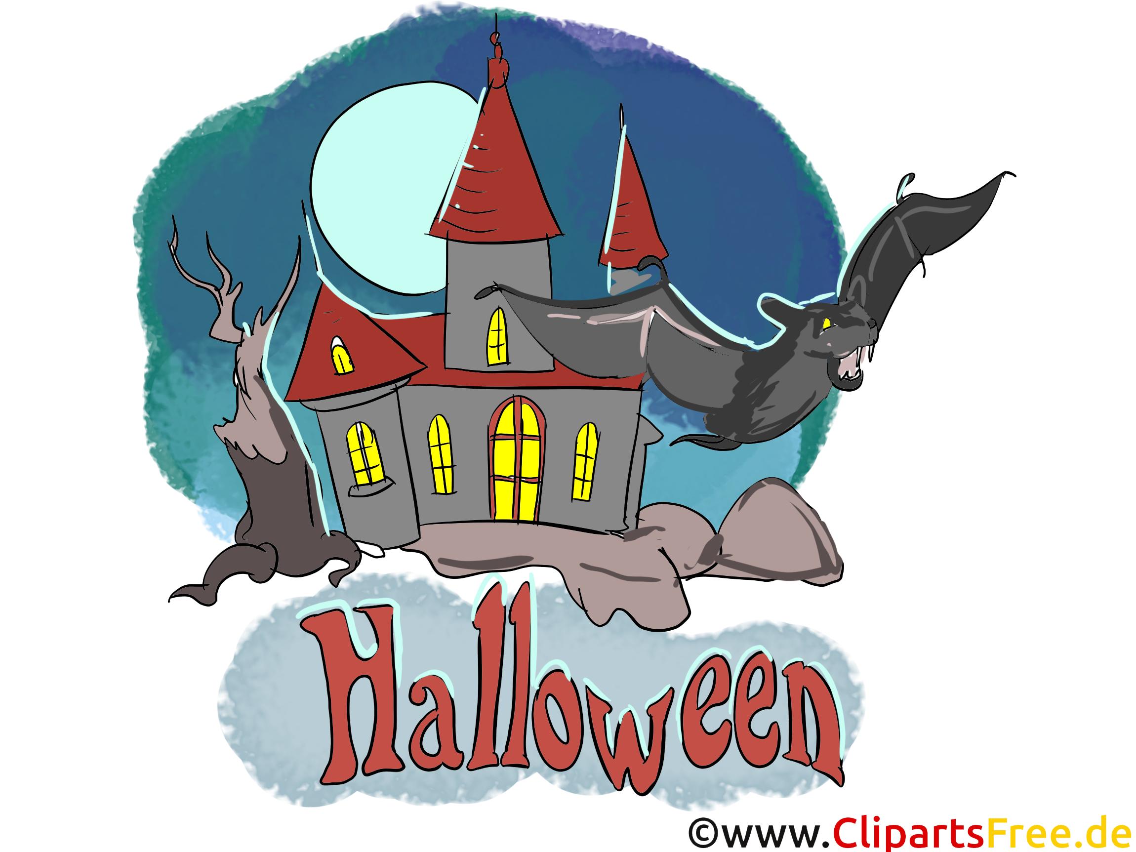 Hallowen Clipart - Cliparts, Bilder, Grusskarten, Vorlagen für Einladungen