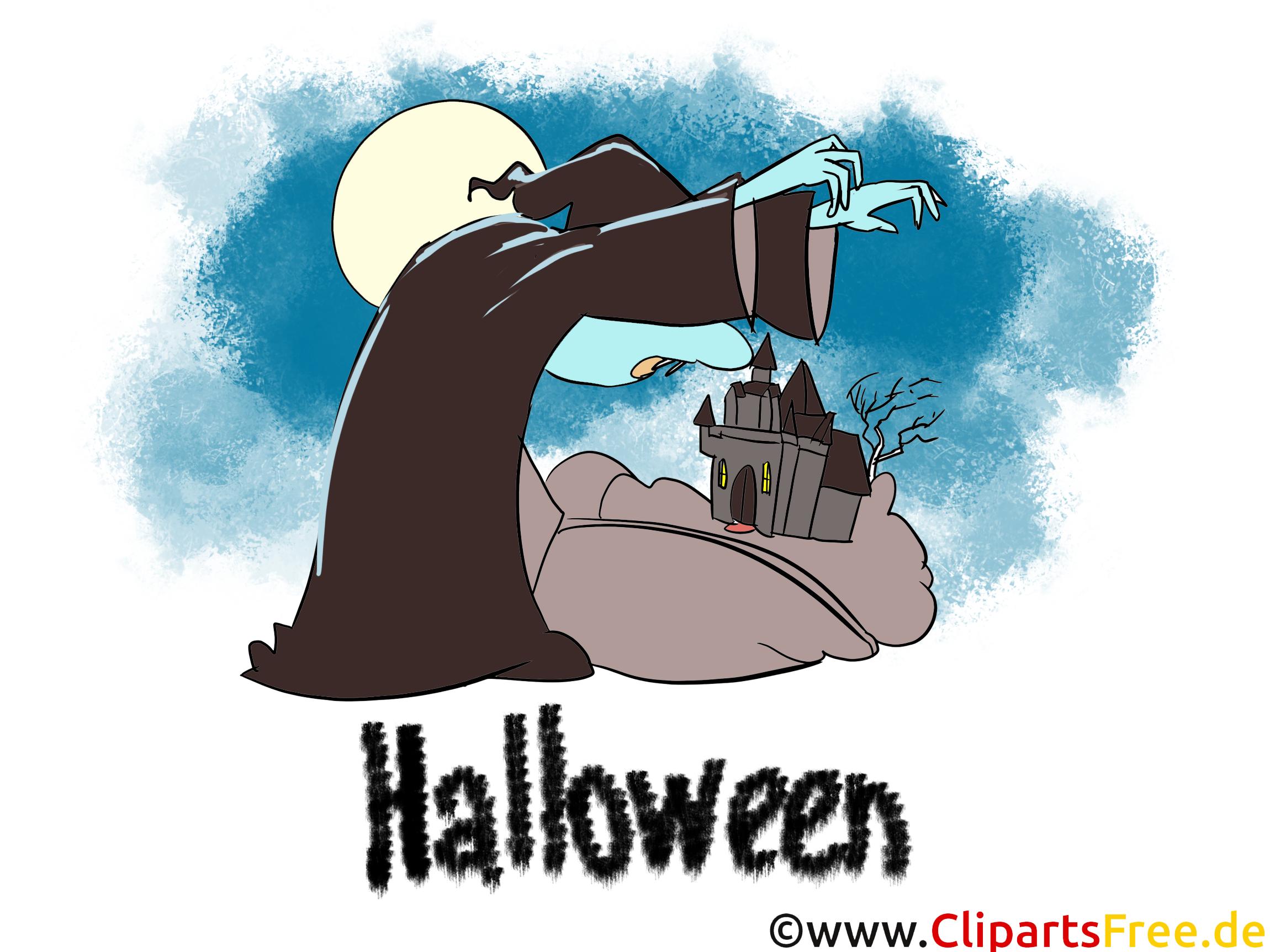 Illustration Halloween - Cliparts, Bilder, Grusskarten, Vorlagen für Einladungen