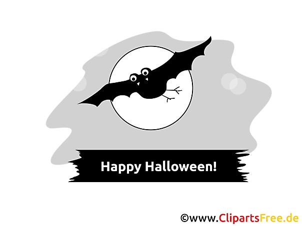 ledermaus Clip Art zu Halloween
