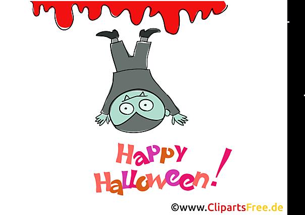 Lustiger Vampir Clipart, Bild, Cartoon zu Halloween