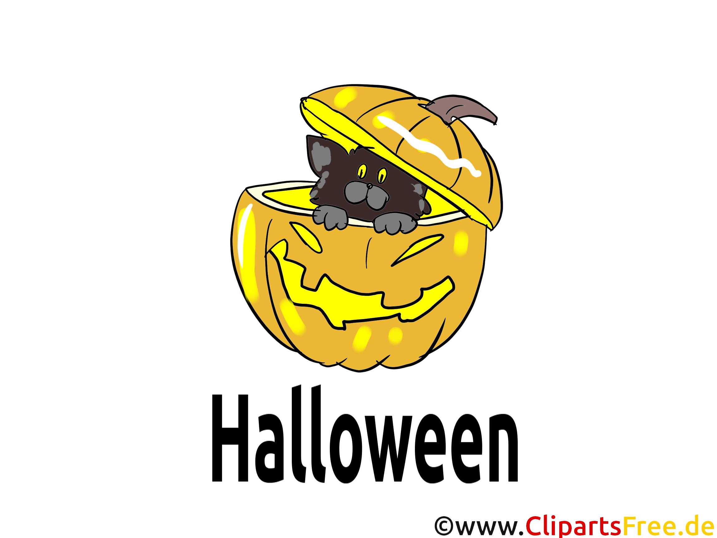 Lustiges Bild zu Halloween - Cliparts, Bilder, Grusskarten, Vorlagen für Einladungen