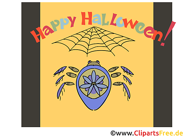 Spinne Cliparts zu Halloween
