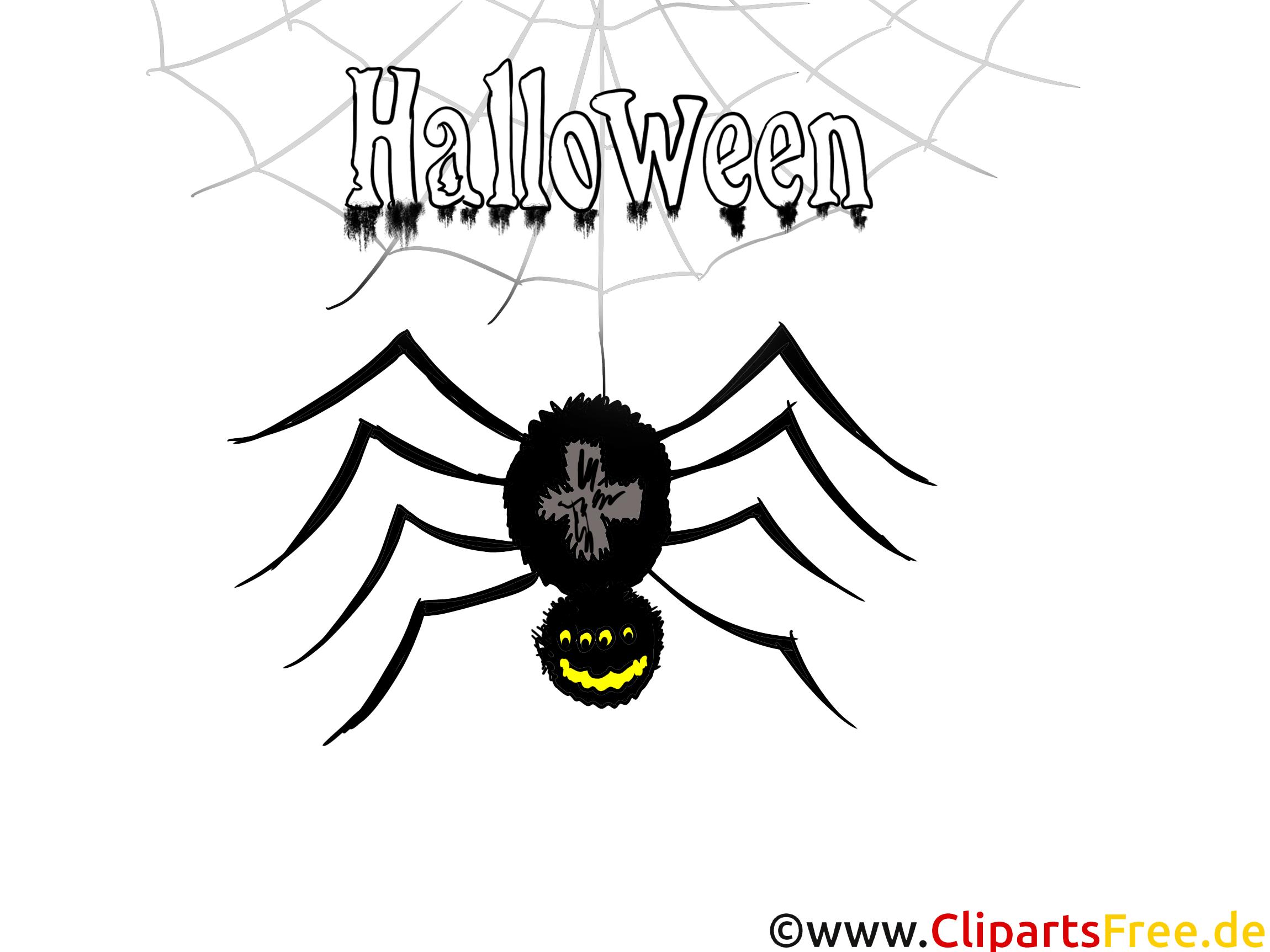 Spider Illustratie - illustraties, afbeeldingen, graphics, clipart, strips, tekenfilms voor Halloween