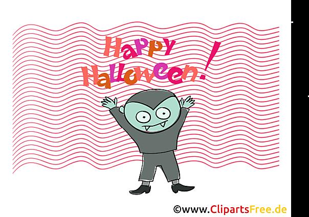 Vampir Clipart, Bild, Cartoon zu Halloween