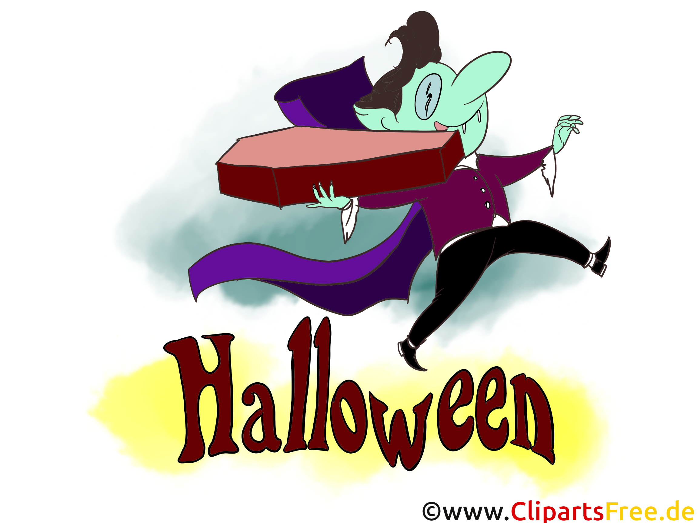 Vampir Clipart Illustration zu Halloween