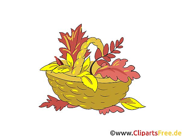 Bilder Runterladen Kostenlos Korb Mit Gelben Blättern Im Herbst