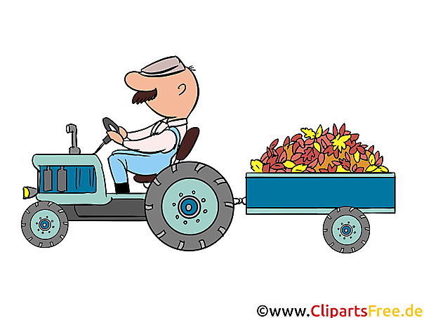 bilder zum ausdrucken kostenlos  traktor mit anhänger auf