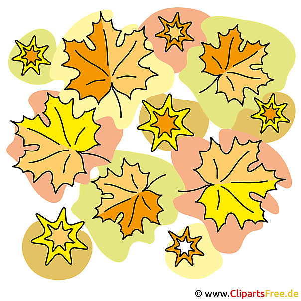 Autumn Wallpaper - Maple Leaves Clipart