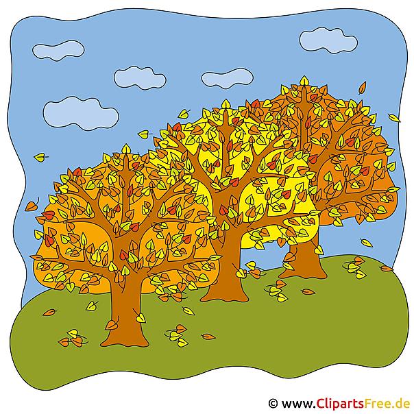 Herfst bosbeeld voor gratis afdrukken