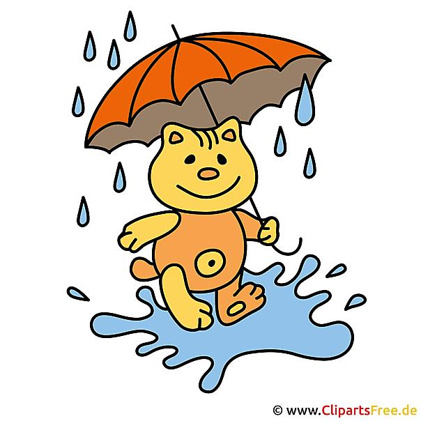 雨画像 - 秋のクリップアート