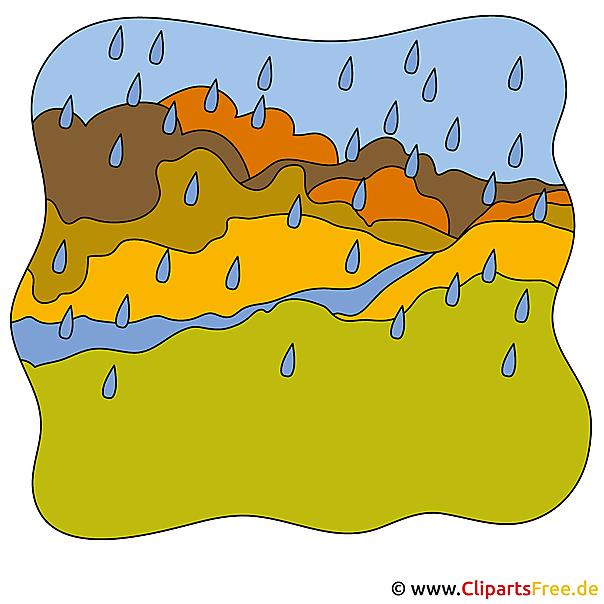 雨クリップアート - 秋のフリー写真素材