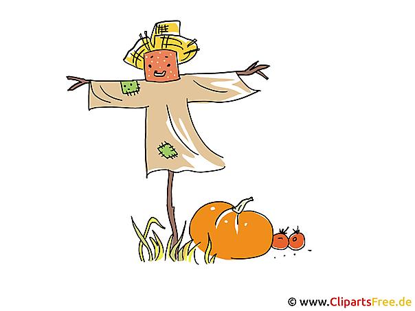 vogelscheuche bild clipart illustration