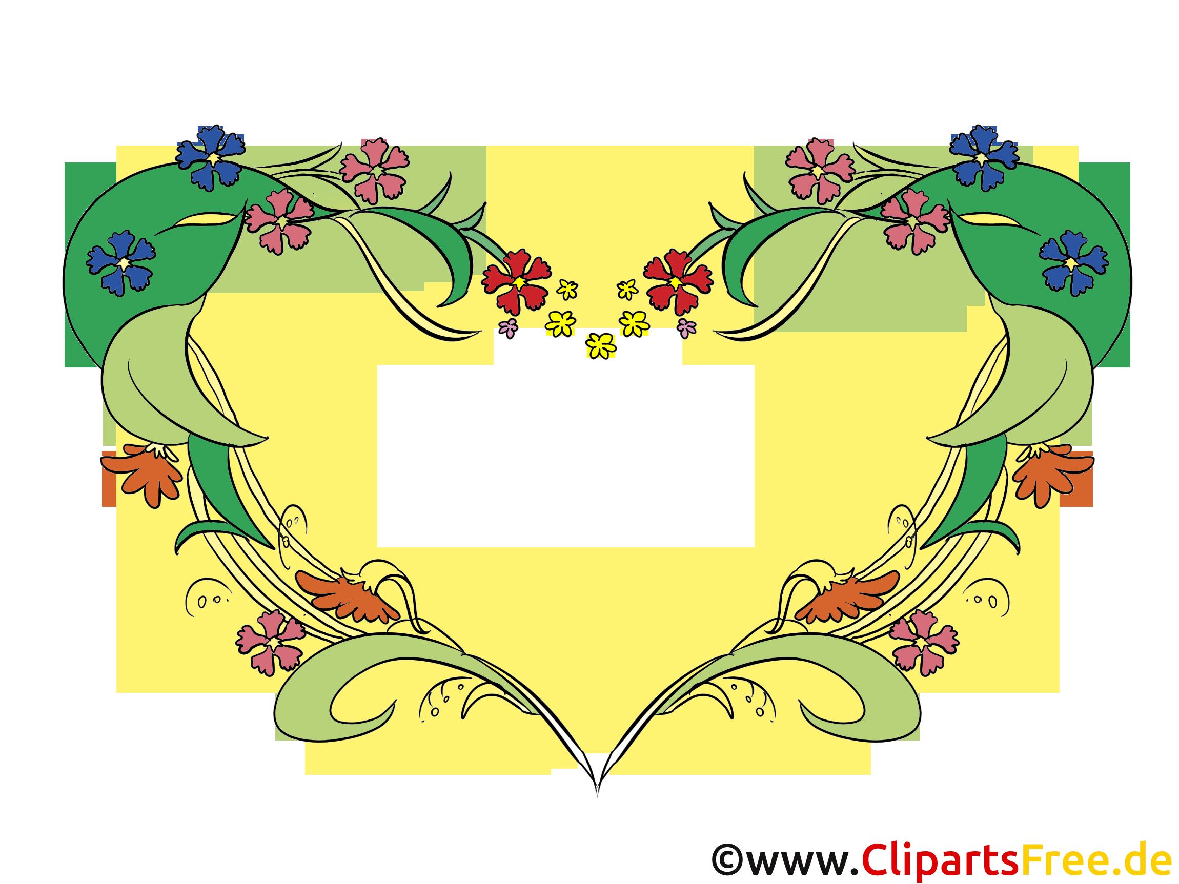 Bilder Rahmen mit Blumenranken