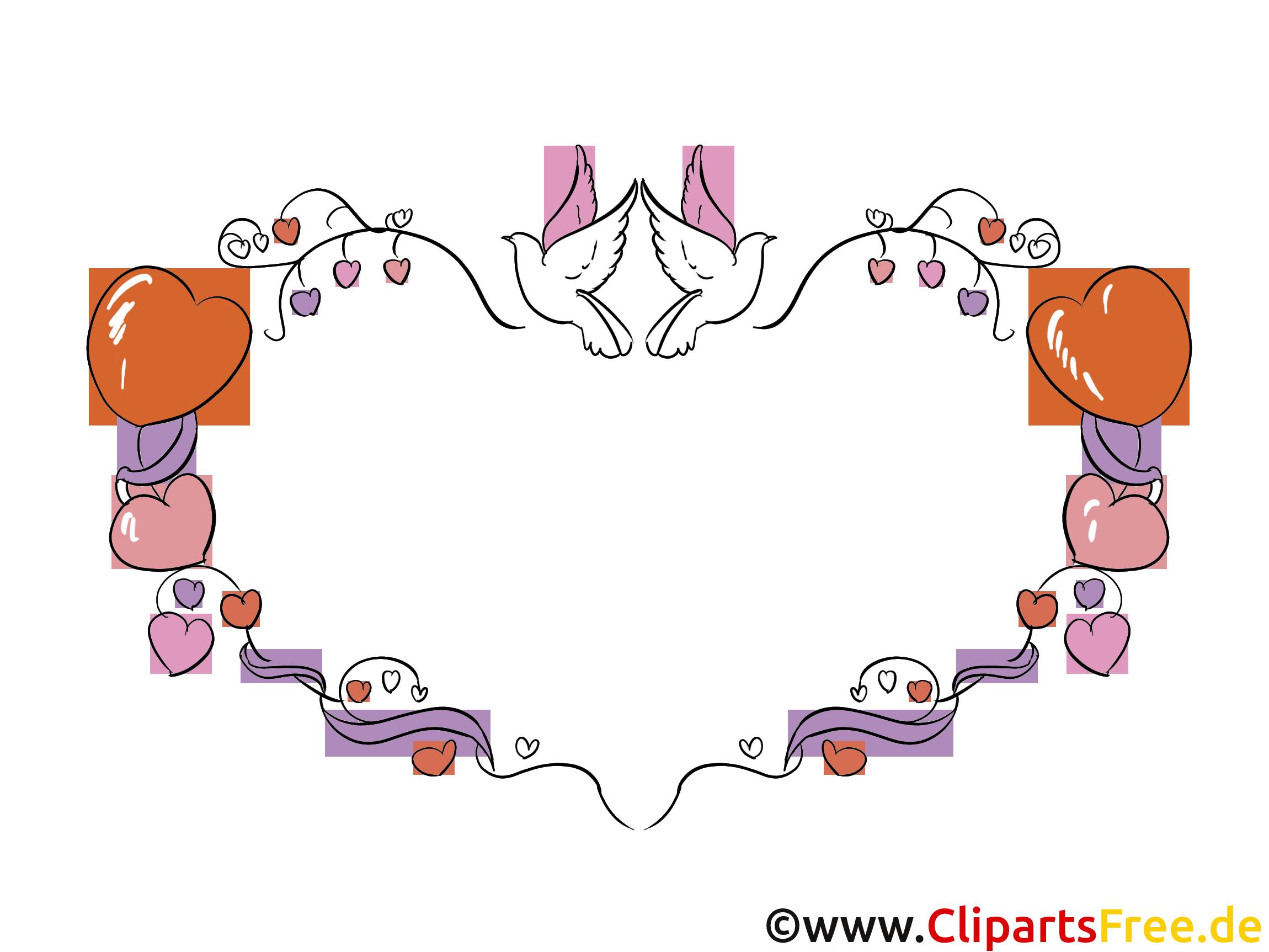 Wandtattoo Herz, Tauben, Liebe, Romantik