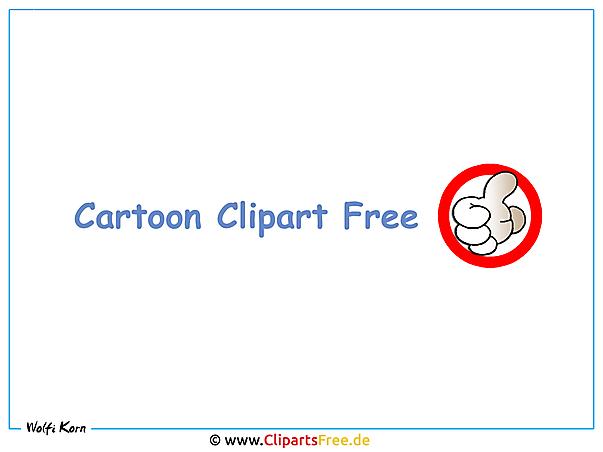 Cartoon Clipart Bilder kostenlois - OK Hand