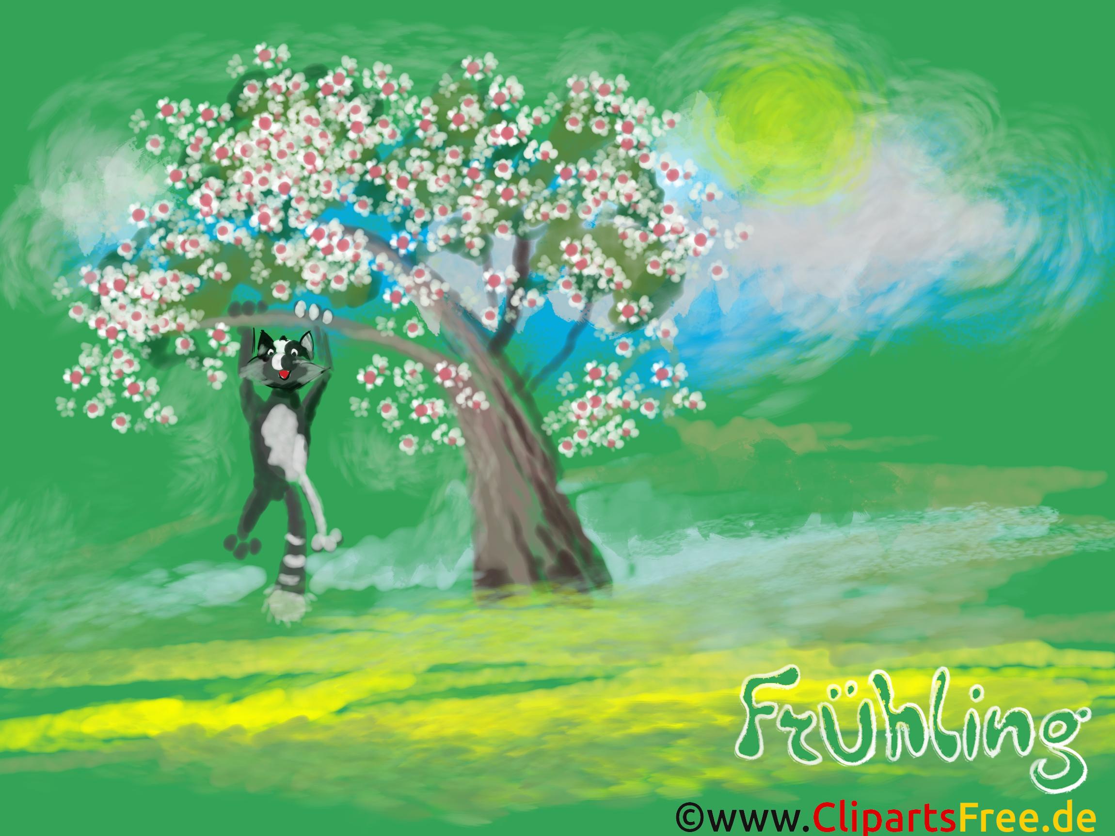 Desktop Hintergrund Bäume Im Frühling