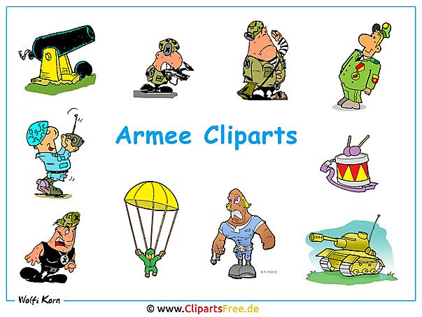 Clip Arts Armee - Desktop Hintergrund gratis