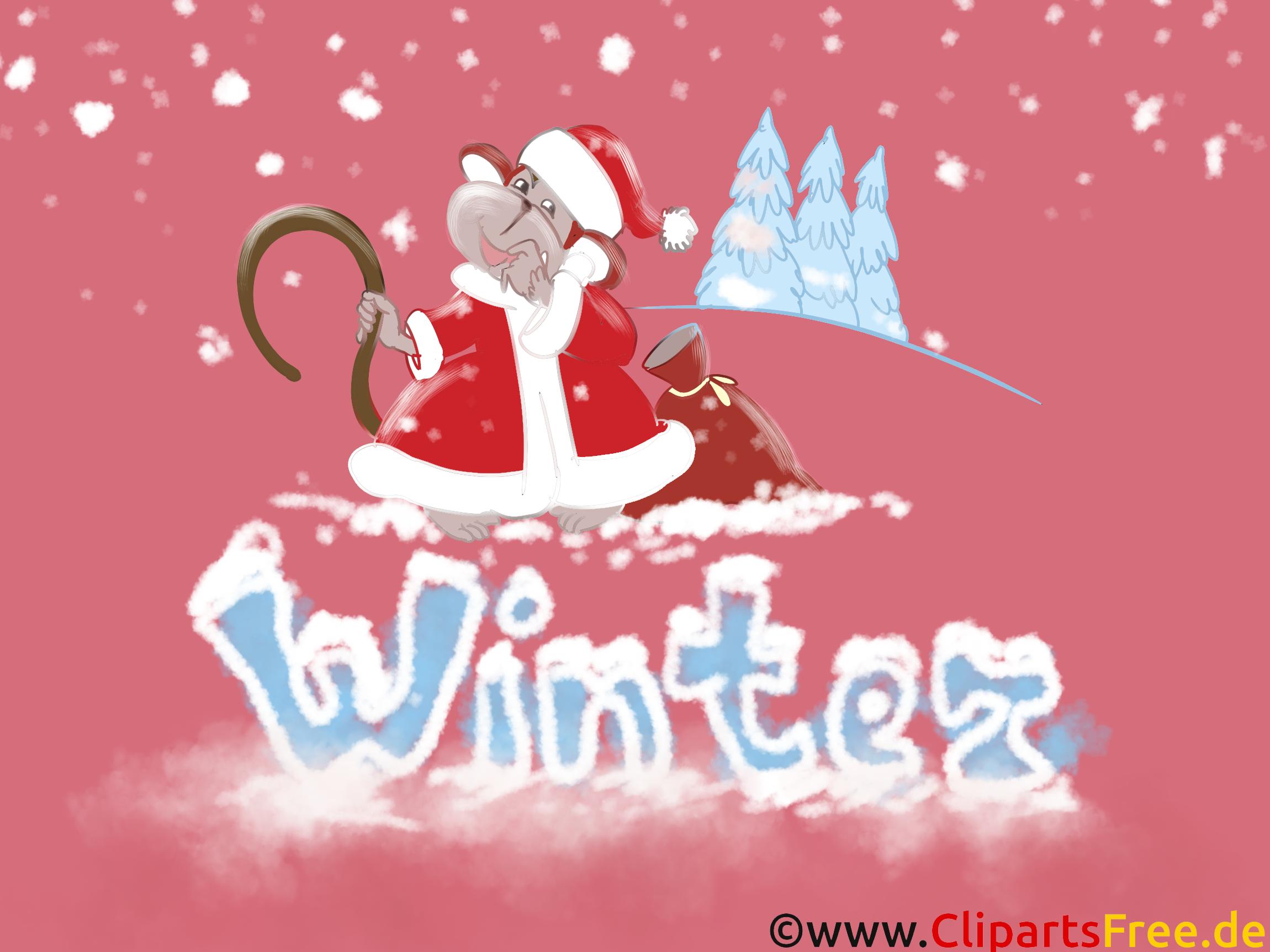 Desktop Hintergrund HD-Qualität Weihnachten, Weihnachtsmann, Winter, Schnee