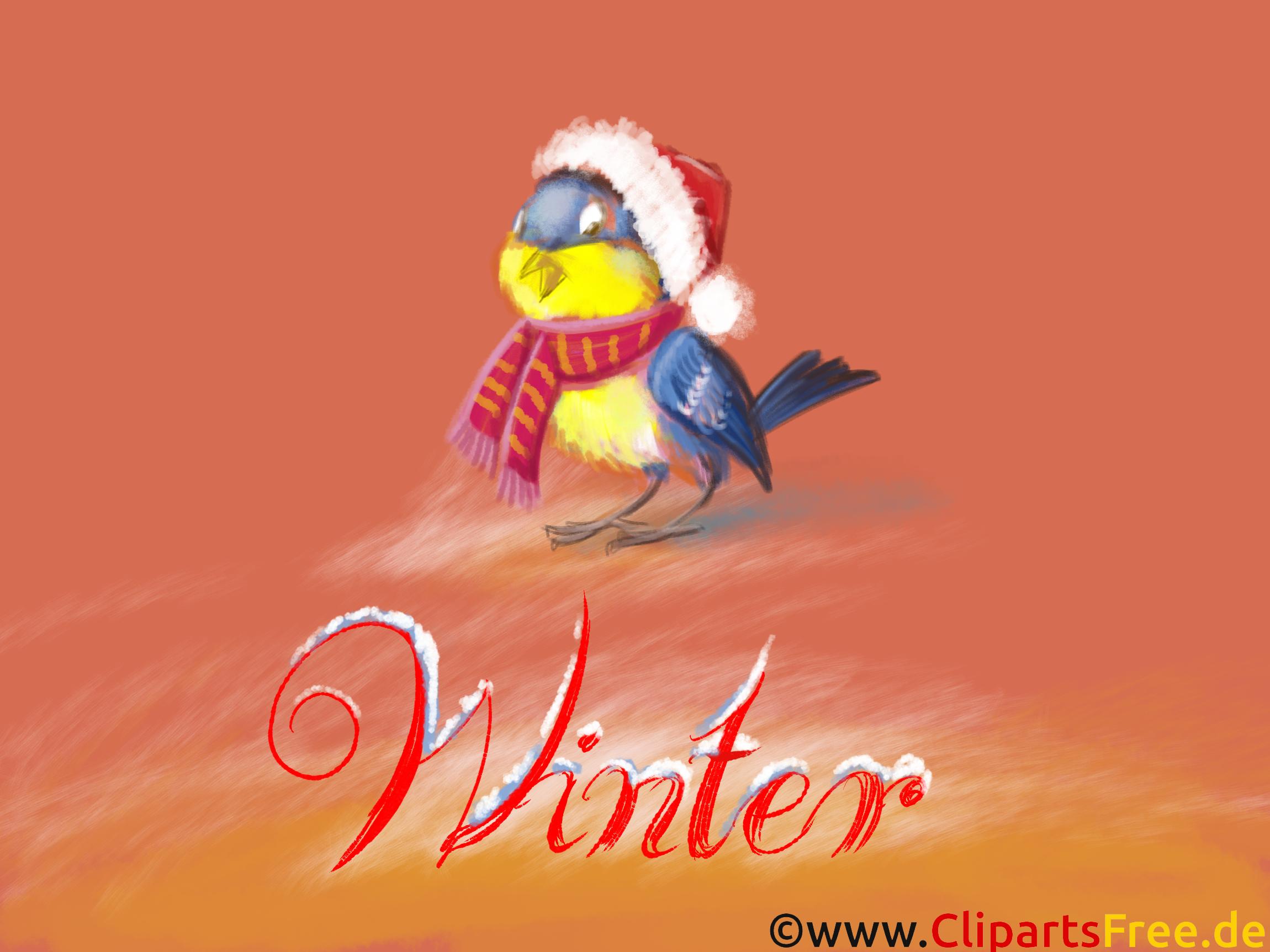 Bureaubladhangplaats beeld van Winter - Goudvink, Sneeuw, Vorst