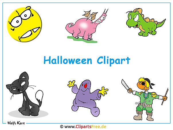 Halloween Clipart kostenlos - Halloween Hintergrundbild