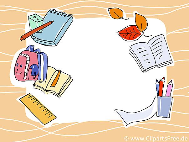 Hintergrundbild Schule. Schulanfang, Einschulung gratis