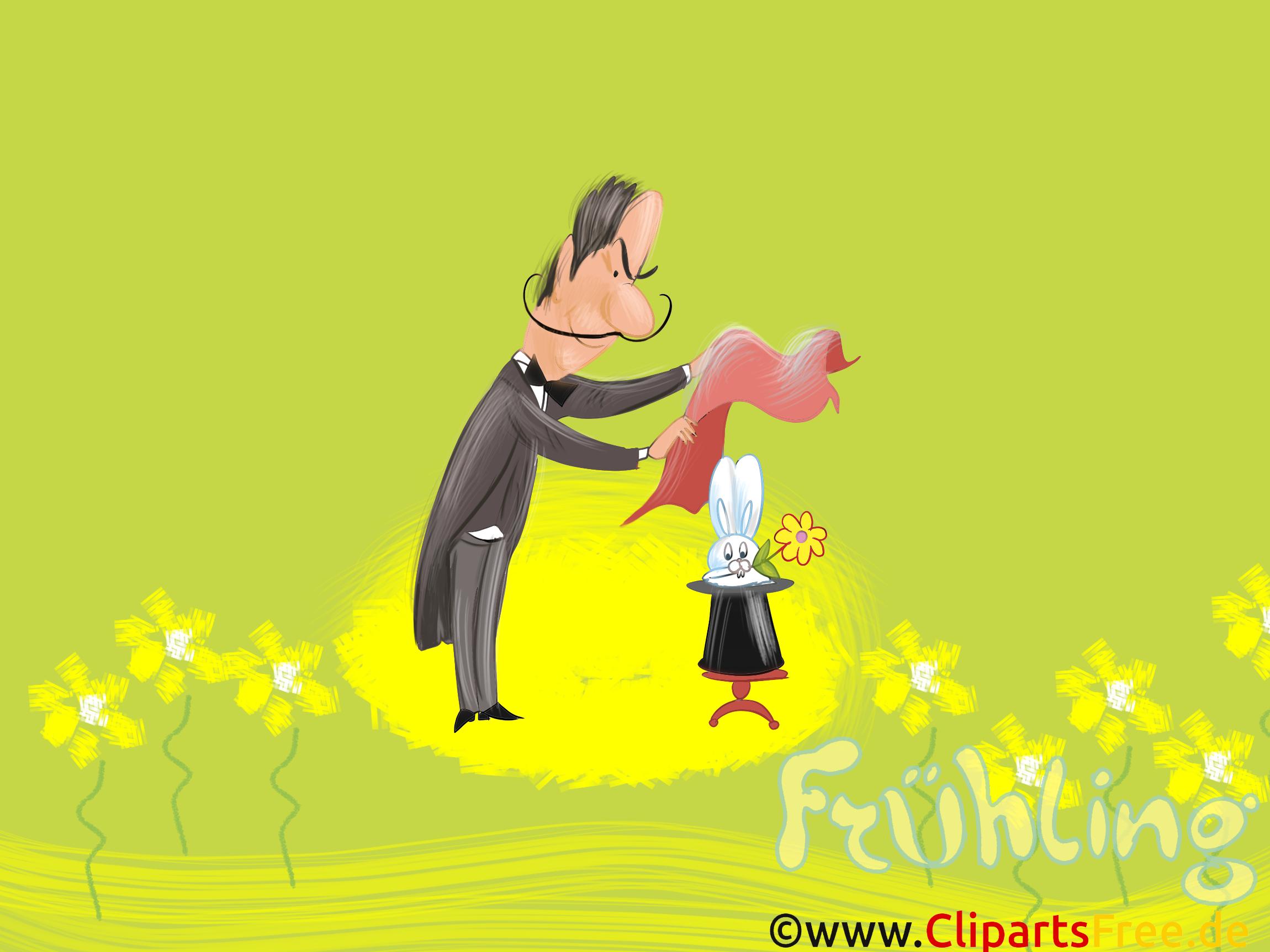 Hintergrundbilder HD Frühling, Zauberer, Hut, Hase