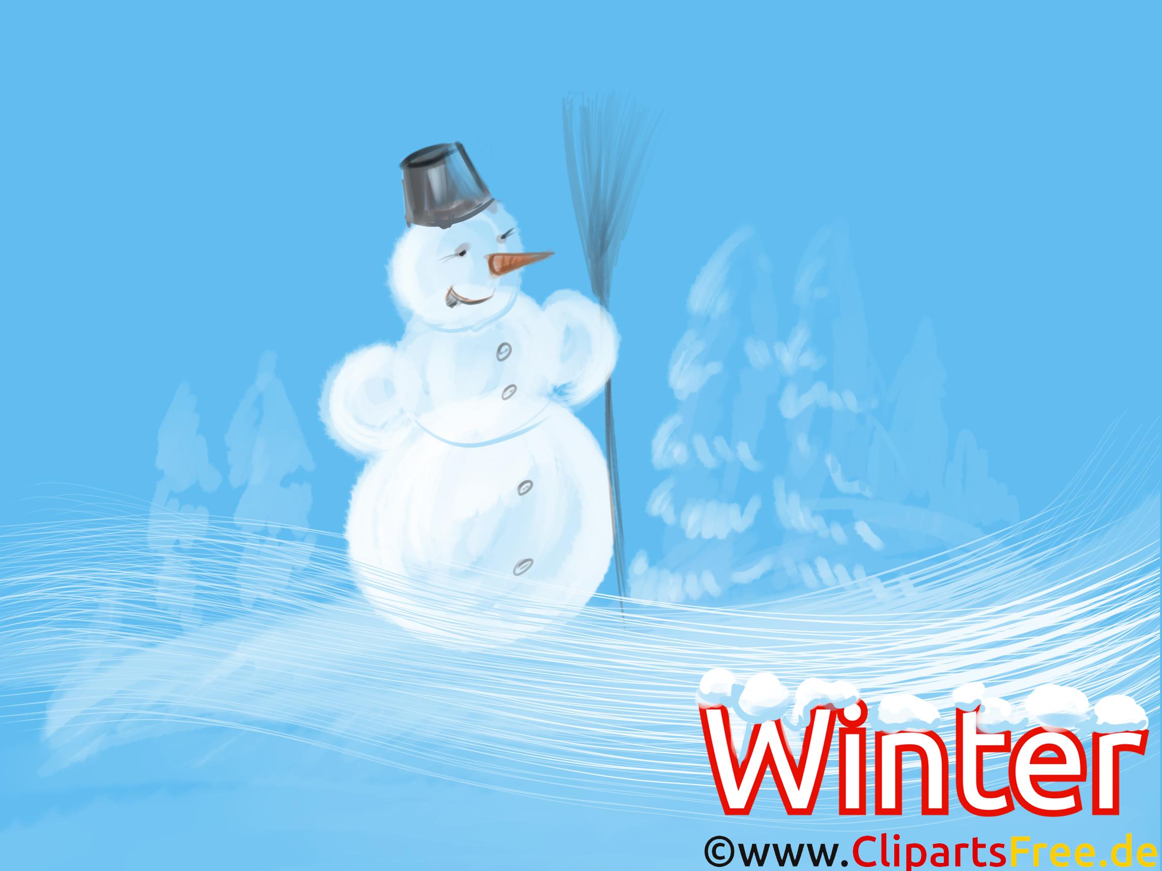 Lustiges Hintergrundbild Schneemann, Winter, Neujahr, Silvester