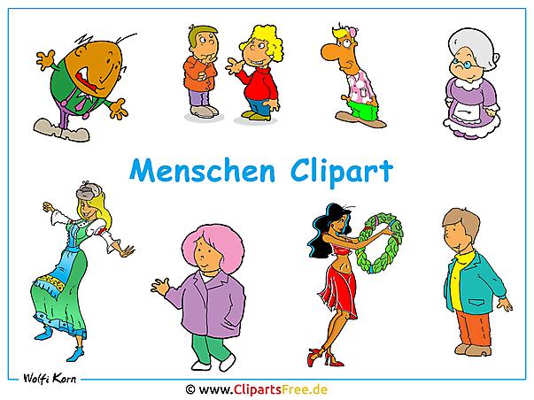 Menschen Bild Clipart - Hintergrundbild kostenlos
