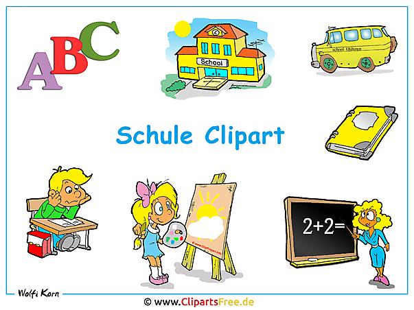 Schulbilder Clipart - Hindergrundbilder kostenlos