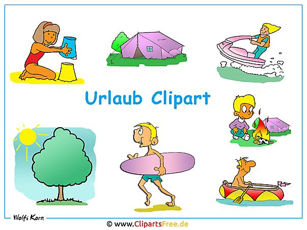 Urlaub Clipart - Desktopbild kostenlos