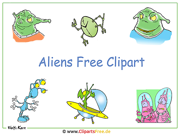 Clipart free Aliens als Wallpaper herunterladen