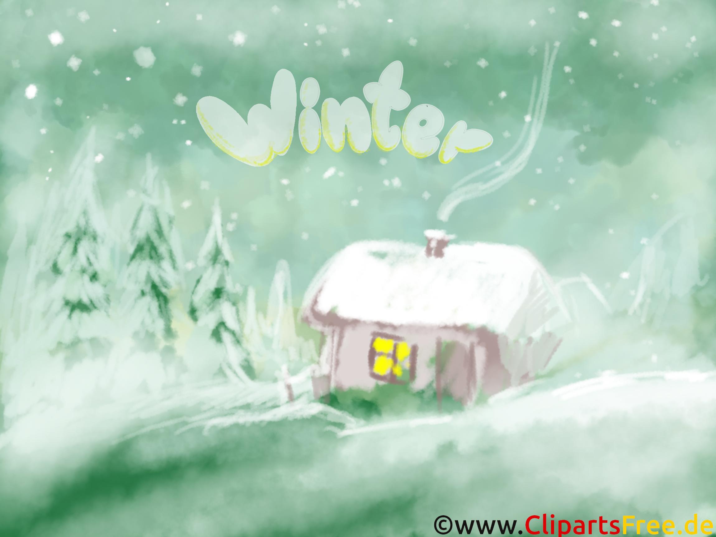 Winterlandschaft Hintergrundbild - Bilder Landschaften
