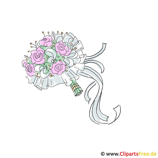 Blumenstrauß Clipart zur Hochzeit