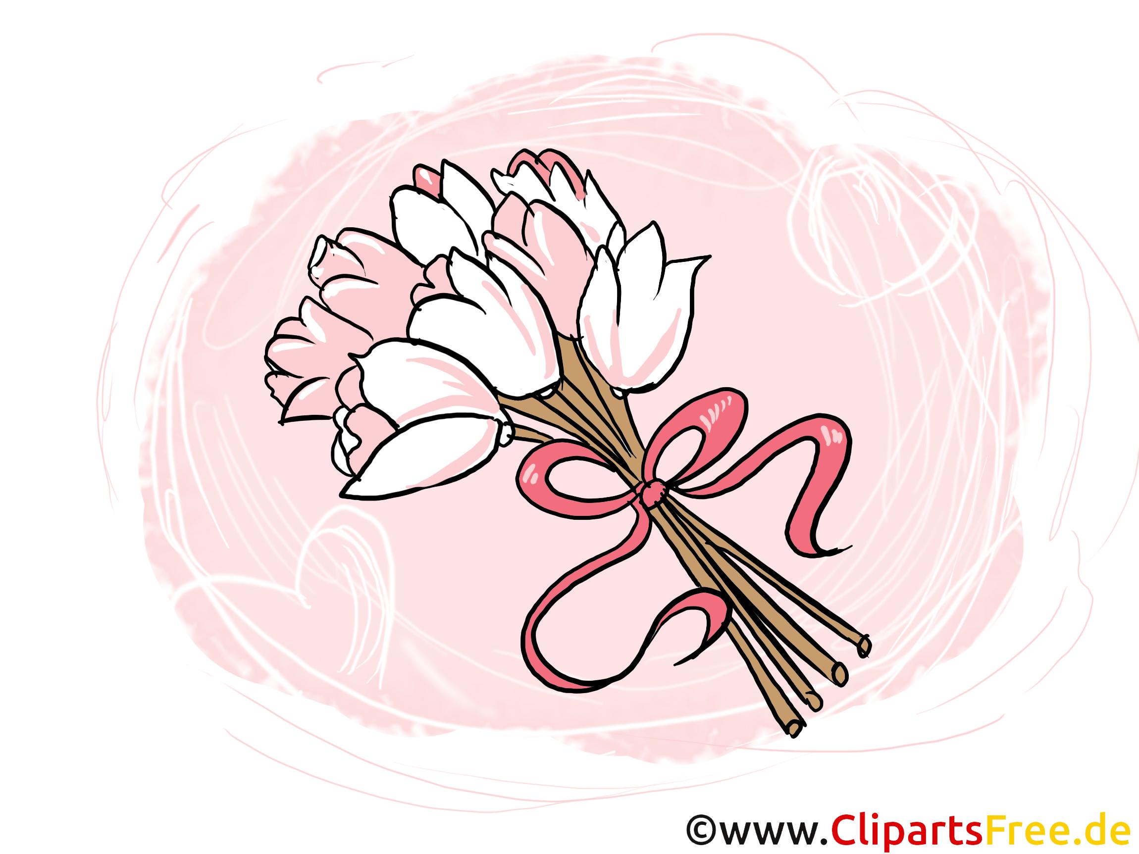 Brautstrauss Blumenstrauss Hochzeit Clipart Bild Grafik Illustration