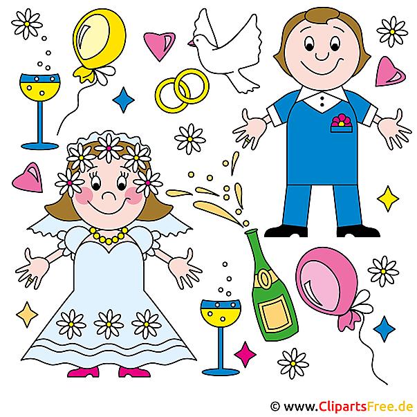クリップアートオンライン結婚式無料